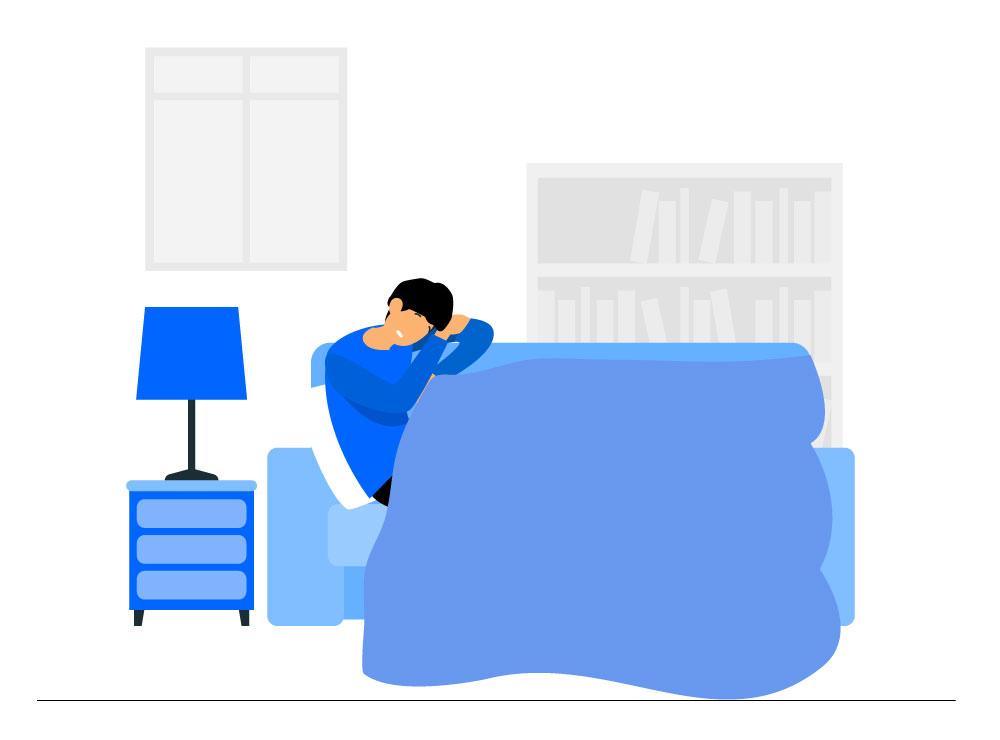 Gespannen zijn tijdens het slapen