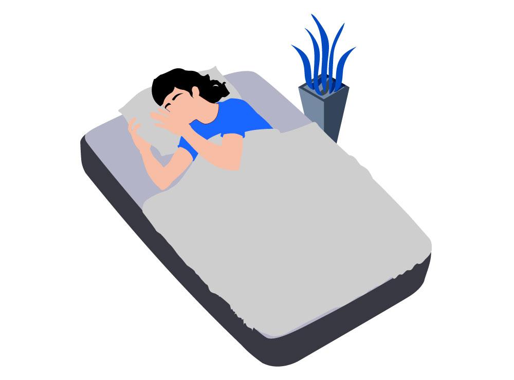 Slapen met een ventilator