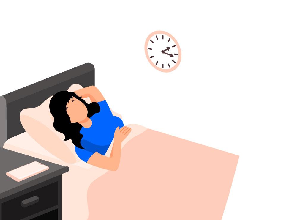 Moe maar niet kunnen slapen